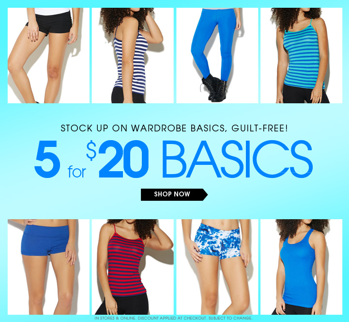 5 for $20 Basics