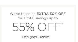 Up to 55% off Designer Denim