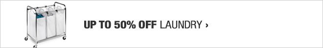 Up to 50% off Laundry