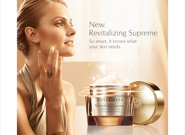 New. Revitalizing Supreme  So smart, it knows what your skin needs.