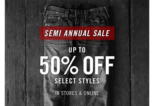 Semi Annual Sale