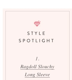 Ragdoll Slouchy Long Sleeve