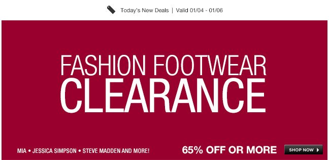 Fashion Footwear Clearance