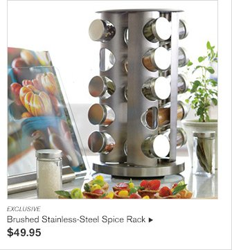 EXCLUSIVE -- Brushed Stainless-Steel Spice Rack - $49.95