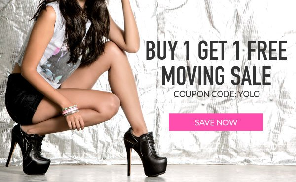 Buy 1 Get 1 Free with Coupon Code YOLO.
