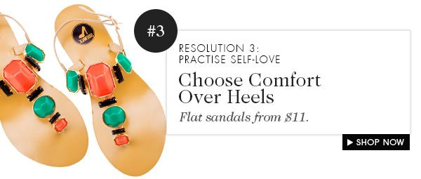Flat sandals from $11