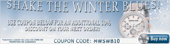 10% Off to Shake the Winter Blues!
