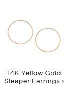 14K Yellow Gold Sleeper Earrings