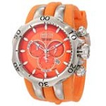 Invicta 10829 Men's Subaqua Venom Reserve Fang Orange Dial Orange Rubber Strap Chronograph Dive Watch