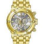 Invicta 14508 Men's Subaqua Reserve Silver Dial Gold Tone Steel Chronograph Dive Watch
