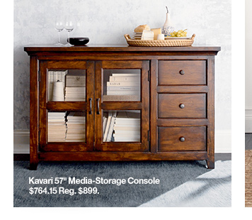 Kavari 57in Media-Storage Console $764.15  Reg. $899.