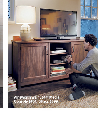 Ainsworth Walnut 47in Media Console  $764.15 Reg. $899.