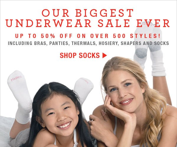 Shop our Biggest Sock Sale Ever