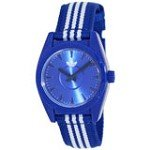 Adidas ADH2790 Women's Santiago-Mini Blue Dial Blue & White Nylon Strap Watch