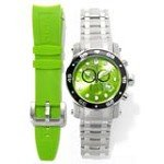 Invicta 10580 Men's Pro Diver Scuba Green Dial Interchangeable Bracelet Chronograph Dive Watch