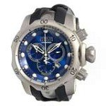 Invicta 14168 Men's Subaqua Venom Reserve Blue Dial Black Rubber Strap Chronograph Dive Watch