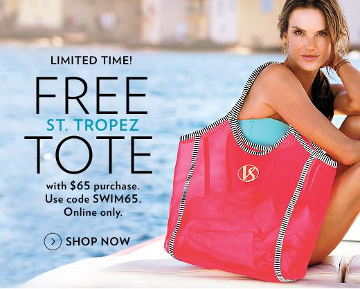 Limited Time! Free St. Tropez Tote with $65 Purchase