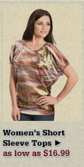 Womens Short Sleeve Tops on Sale