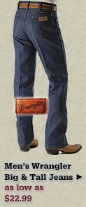 Mens Wrangler Big and Tall Jeans on Sale