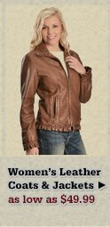 Womens Leather Coats and Jackets on Sale