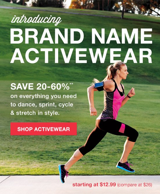 introducing brand name active wear