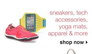 sneakers, tech accessories, yoga mats, apparel & more. shop now
