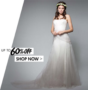 BRIDAL WEAR. UP TO 60% OFF - SHOP NOW