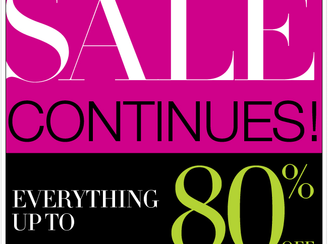 Everything Up to 80% Off. Shop the Big Big Sale!