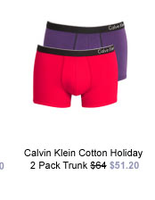 Calvin Klein Cotton Holiday 2 Pack Trunk was $64 now $51.20
