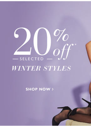 20% off selected Winter styles