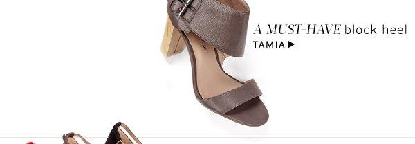 A must-have block heel. Shop Tamia