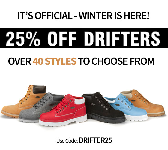 Get 25% OFF Drifters