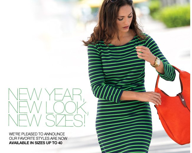 New Year, New Look, New Sizes!