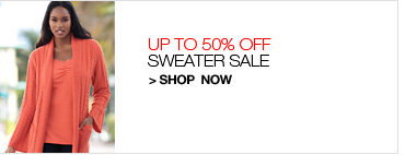 Up to 50% Off Sweater Sale