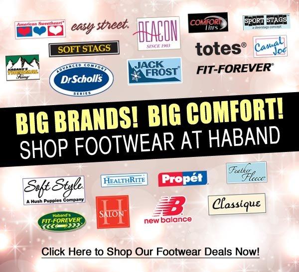 Shop Footwear for Big Comfort!