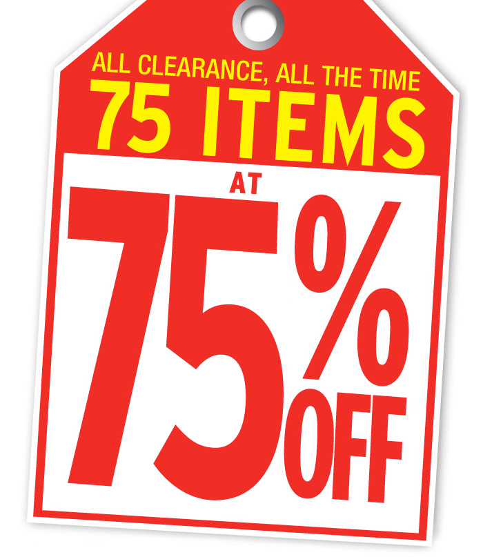 All Clearance, All The Time 75 items at 75 off