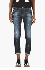 DSQUARED2 Blue distressed Rookie Wash Cool Girl Jeans for women