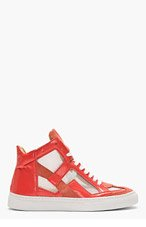 MM6 MAISON MARTIN MARGIELA Coral Cut-Out Iris High-Top Sneakers for women