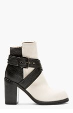 MCQ ALEXANDER MCQUEEN Black & Ivory Nazrul Ankle Boot for women