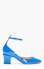 VALENTINO Bule Patent ankle strap Mary Janes for women