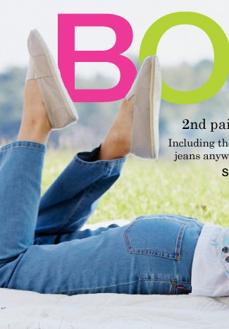 Buy One Get One 50% off All Jeans!