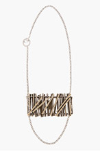 MAISON MARTIN MARGIELA Silver Stacked Accent Necklace for men