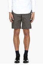 ALEXANDER MCQUEEN Black & Khaki Skull Shorts for men