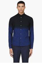 MCQ ALEXANDER MCQUEEN Black & Blue Ombre Shirt for men