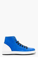 MARC JACOBS Blue Suede High-Top Sneakers for men