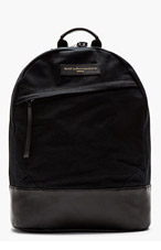 WANT LES ESSENTIELS DE LA VIE Black Wool Leather-Trimmed Kastrup Backpack for men