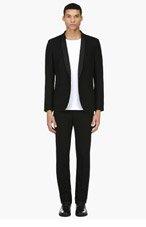 SAINT LAURENT Black wool & silk SHAWL COLLAR Tuxedo for men