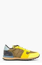 VALENTINO Umber Studded Running Shoes for men