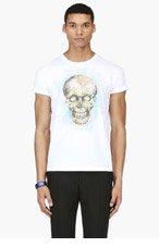 ALEXANDER MCQUEEN White Map Skull T-Shirt for men