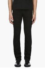 VERSUS Black safety pin slim jeans for men